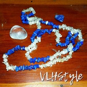 Lapis Lazuli and Quartz Necklace